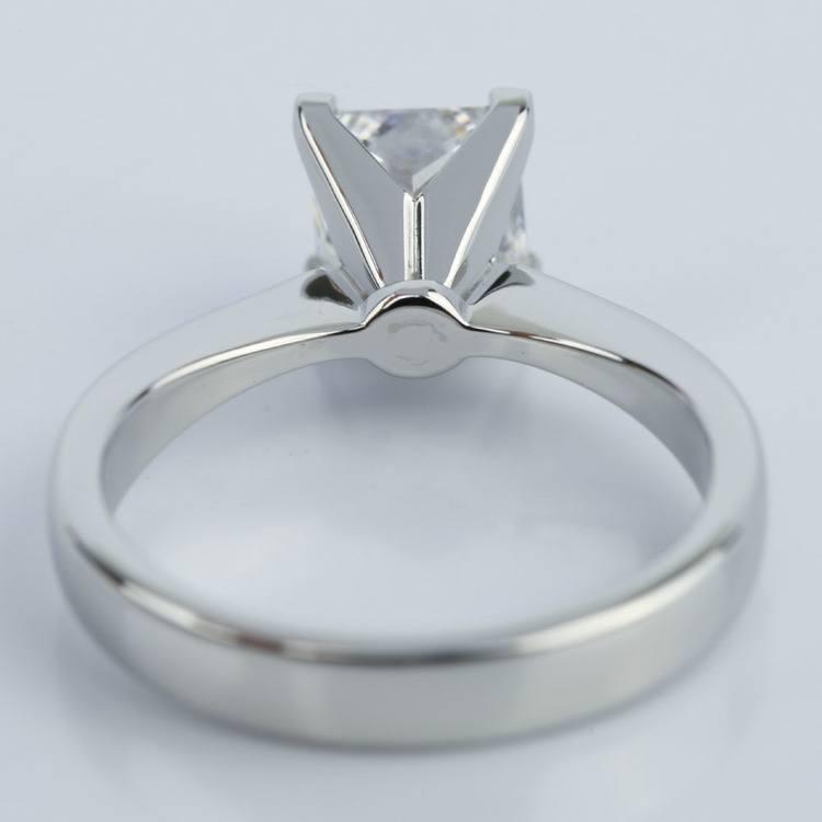 Flat Taper 1.50 Carat Princess Diamond Engagement Ring angle 4