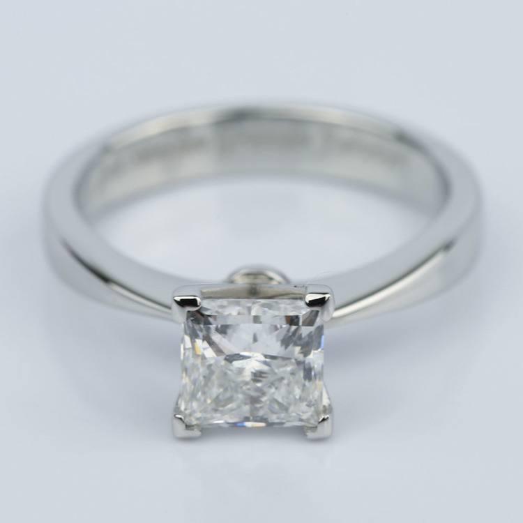Flat Taper 1.50 Carat Princess Diamond Engagement Ring