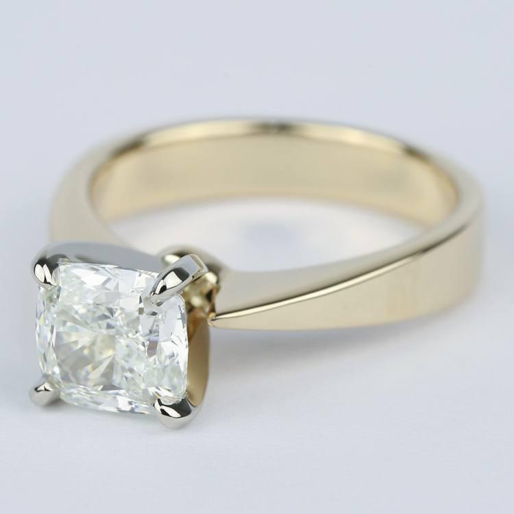 Flat-Taper Cushion Diamond Engagement Ring (2 Carat) angle 2