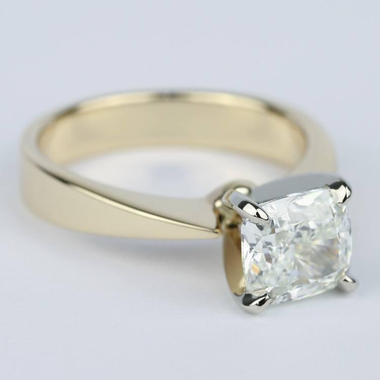 Flat-Taper Cushion Diamond Engagement Ring (2 Carat) angle 3