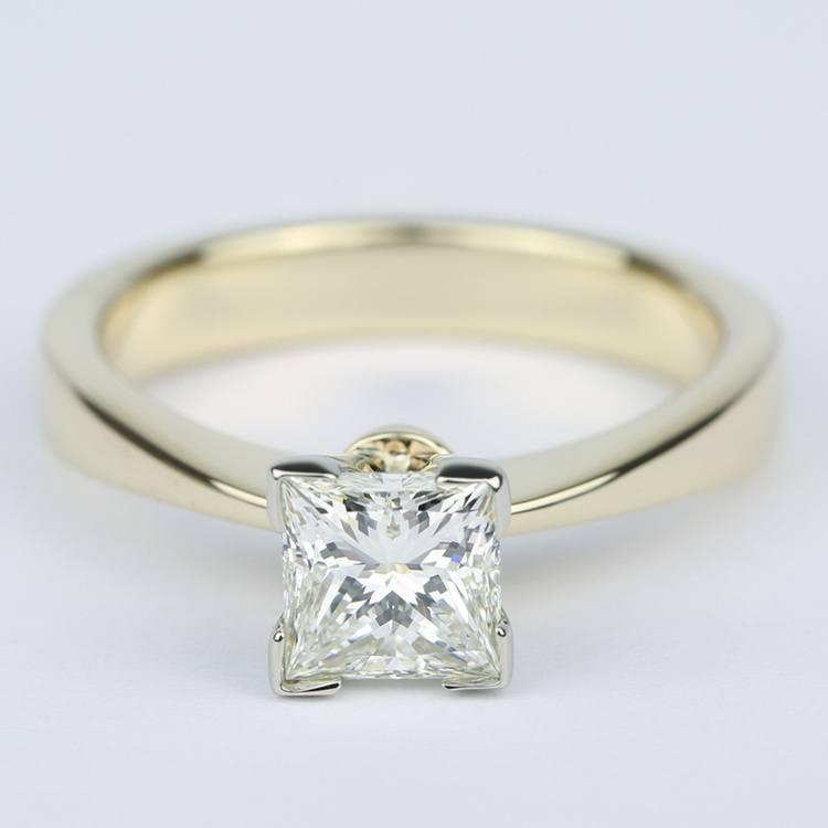 Flat Taper Princess Diamond Engagement Ring (1.40 Carat)