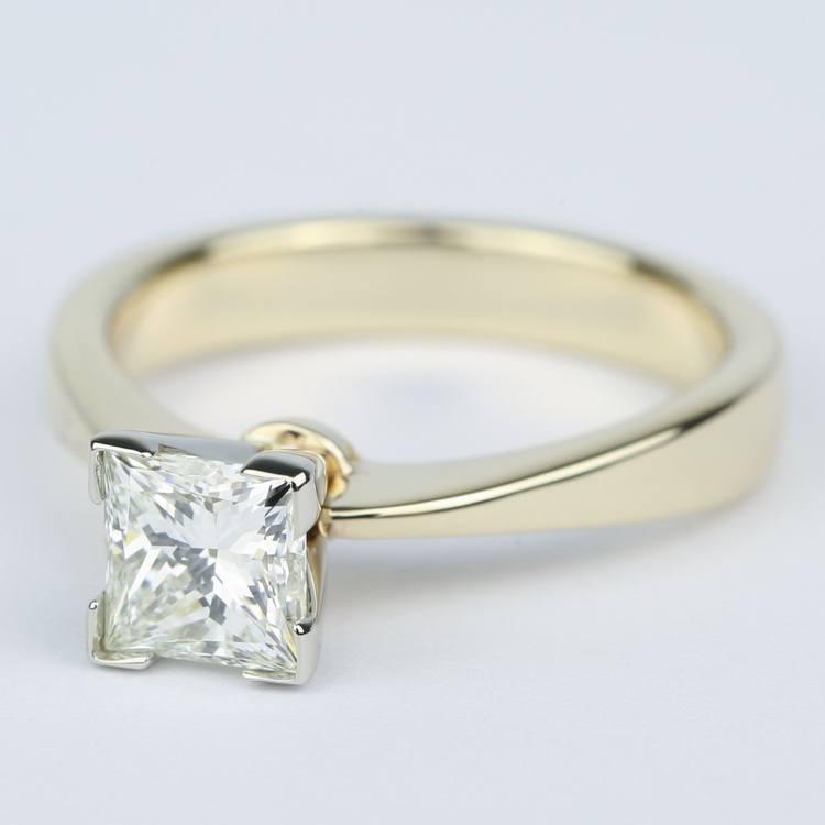 Flat Taper Princess Diamond Engagement Ring (1.40 Carat) angle 2