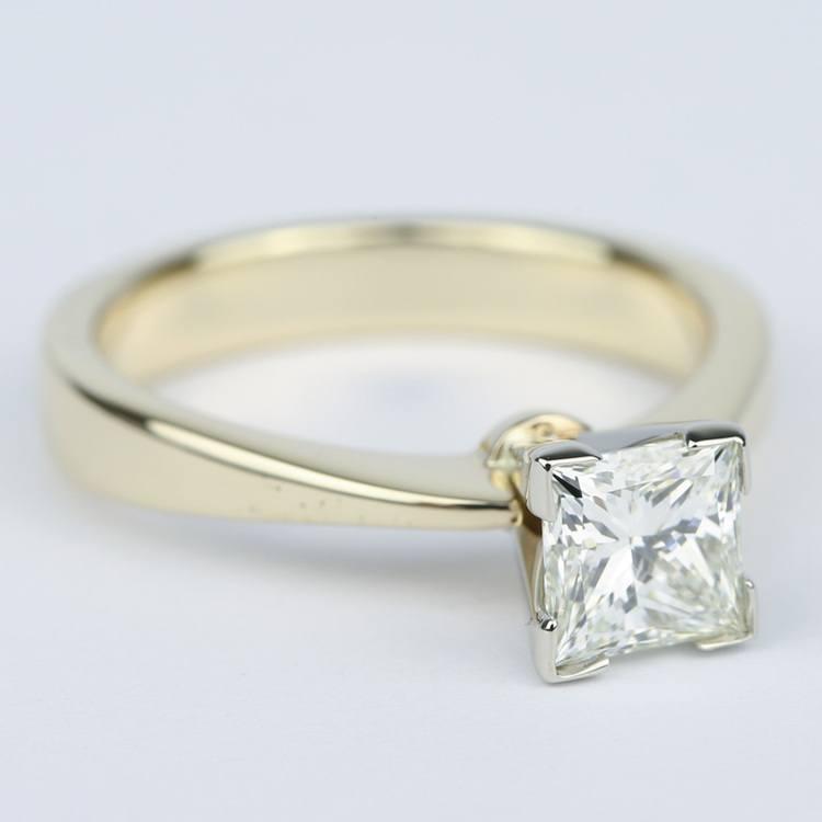 Flat Taper Princess Diamond Engagement Ring (1.40 Carat) angle 3
