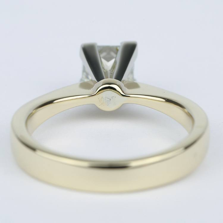 Flat Taper Princess Diamond Engagement Ring (1.40 Carat) angle 4