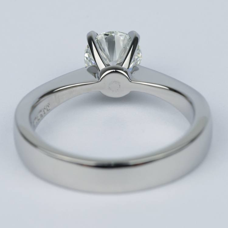 Flat Taper Solitaire Round Diamond Engagement Ring (0.96 ct.) angle 4
