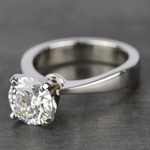 Taper Solitaire Engagement Ring with 2 Carat Diamond - small angle 2
