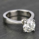 Taper Solitaire Engagement Ring with 2 Carat Diamond - small angle 3