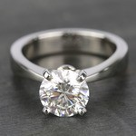 Taper Solitaire Engagement Ring with 2 Carat Diamond - small