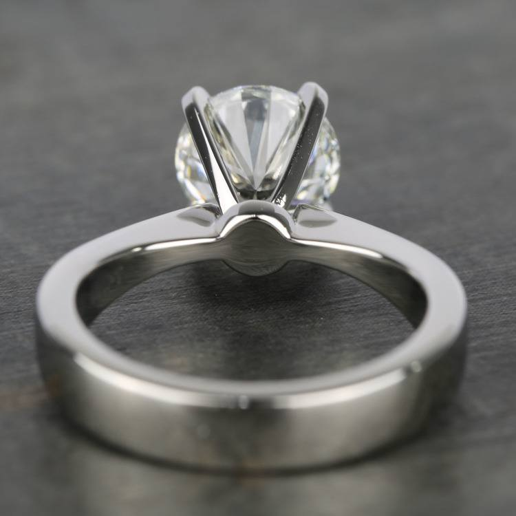Taper Solitaire Engagement Ring with 2 Carat Diamond angle 4