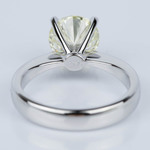 Flat Taper Solitaire Engagement Ring in White Gold (2.36 ct.) - small angle 4