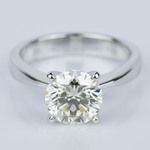 Flat Taper Solitaire Engagement Ring in White Gold (2.36 ct.) - small