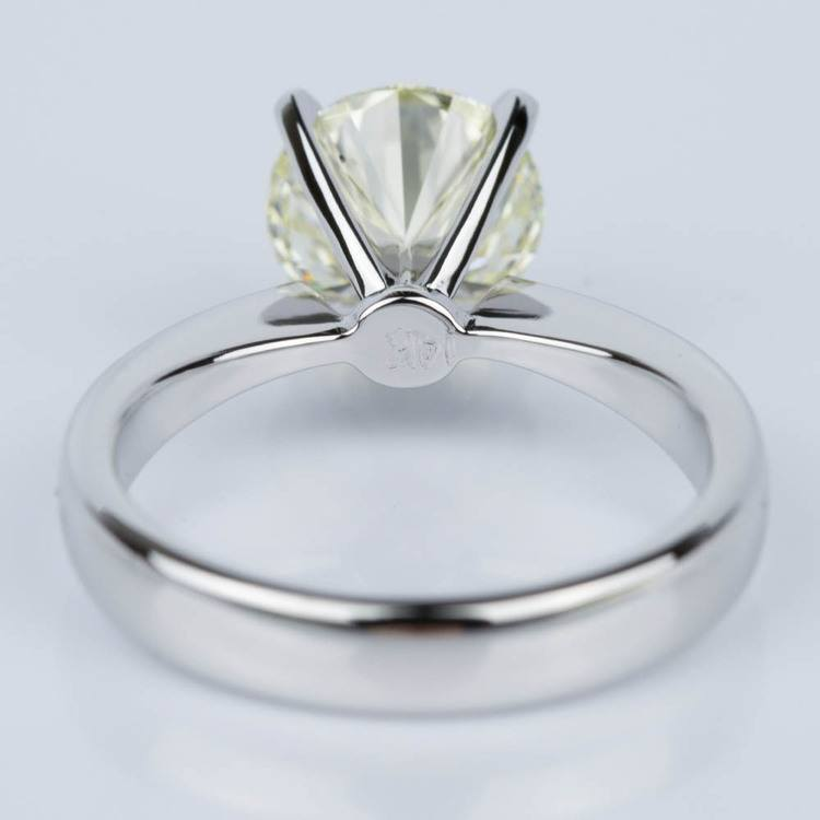 Flat Taper Solitaire Engagement Ring in White Gold (2.36 ct.) angle 4