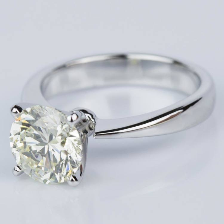 Flat Taper Solitaire Engagement Ring in White Gold (2.36 ct.) angle 2