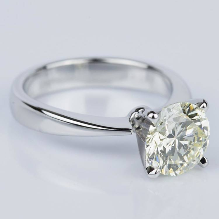 Flat Taper Solitaire Engagement Ring in White Gold (2.36 ct.) angle 3