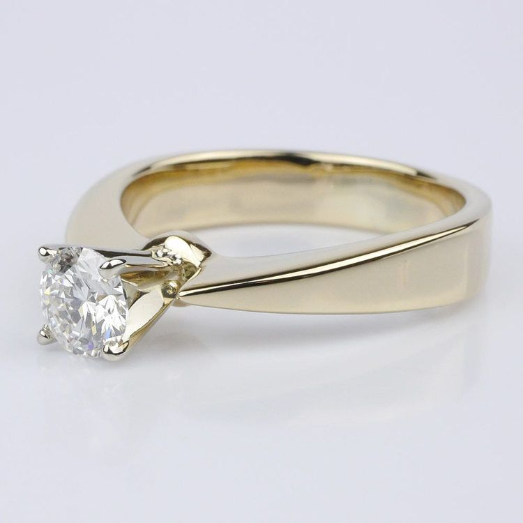 Flat Taper Solitaire Engagement Ring in Yellow Gold (0.50 ct.) angle 2