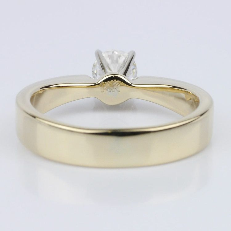 Flat Taper Solitaire Engagement Ring in Yellow Gold (0.50 ct.) angle 4