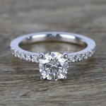 1 Carat Near-Flawless Round Diamond Engagement Ring  - small