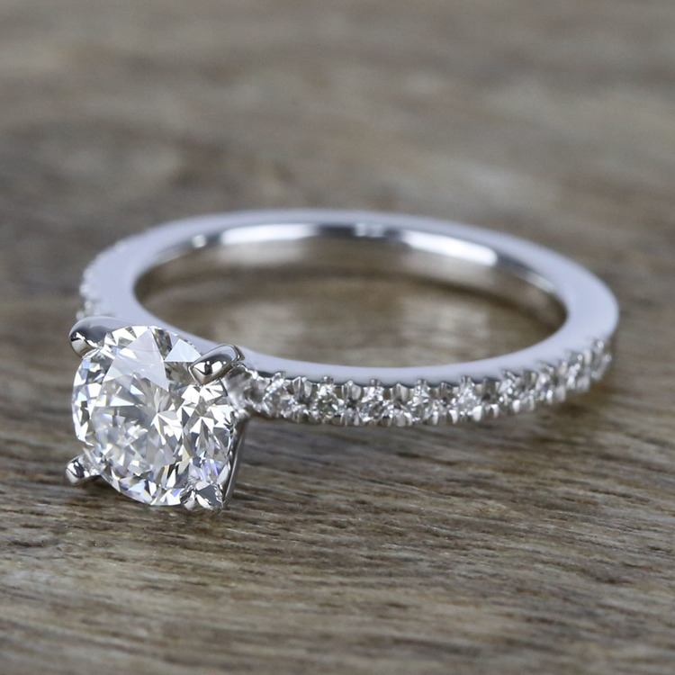 1 Carat Near-Flawless Round Diamond Engagement Ring  angle 2