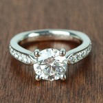 Flawless Round Diamond Cathedral Ring (2.50 Carat) - small