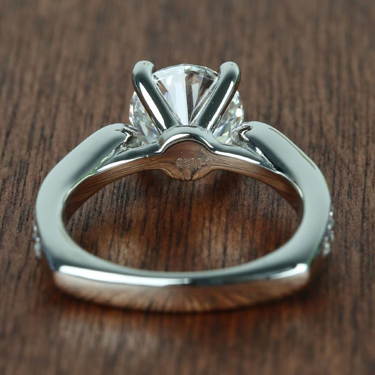 Flawless Round Diamond Cathedral Ring (2.50 Carat) angle 4