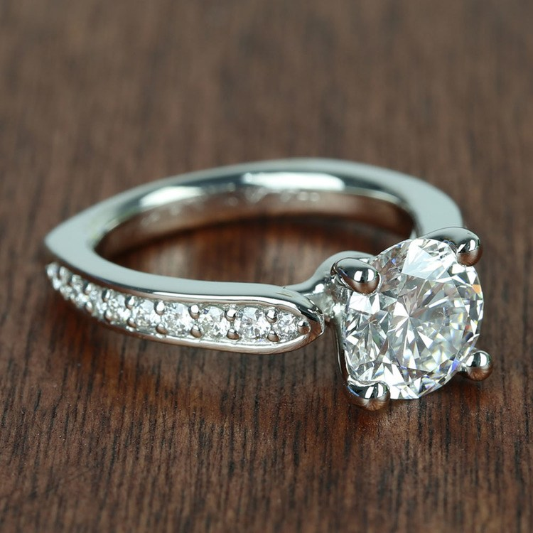 Flawless Round Diamond Cathedral Ring (2.50 Carat) angle 3