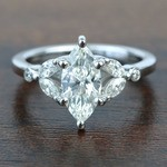 Flawless Antique Marquise Diamond Engagement Ring - small