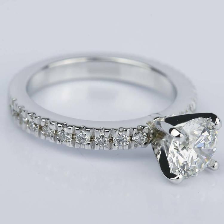 Flawless Diamond Engagement Ring In Platinum 1 20 Ct
