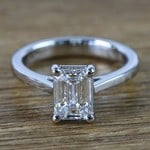 Flawless Emerald Petite Cathedral Diamond Engagement Ring (1.51 Carat) - small