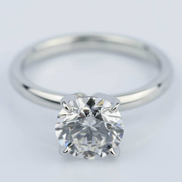 Flawless Round Cut Diamond Solitaire Engagement Ring (1.63 ct.)