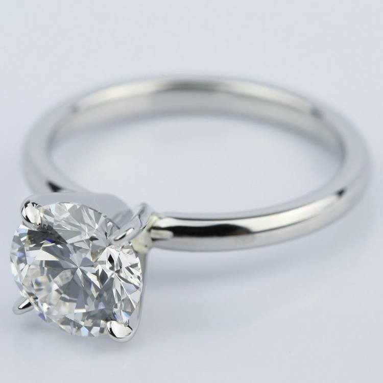 Flawless Round Cut Diamond Solitaire Engagement Ring (1.63 ct.) angle 2