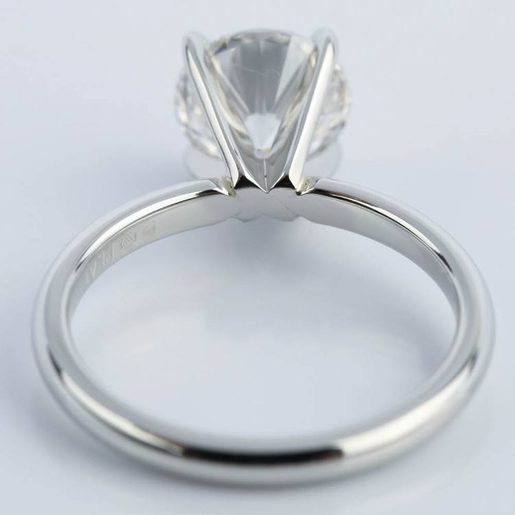 Flawless Round Cut Diamond Solitaire Engagement Ring (1.63 ct.) angle 4