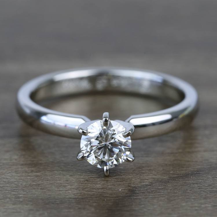 Flawless Round Solitaire Diamond Engagement Ring (0.51 Carat)