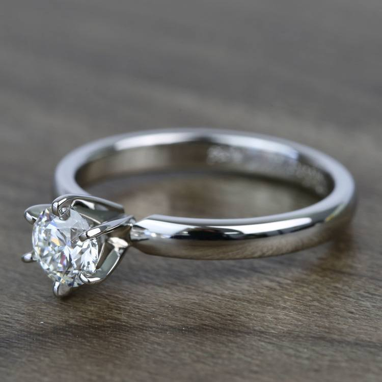 Flawless Round Solitaire Diamond Engagement Ring (0.51 Carat) angle 2