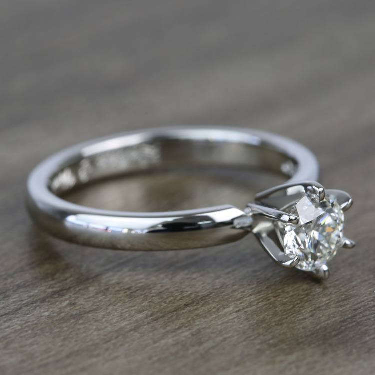 Flawless Round Solitaire Diamond Engagement Ring (0.51 Carat) angle 3