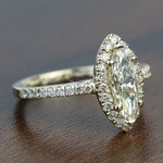 Floating 0.96 Carat Marquise Halo Diamond Engagement Ring - small angle 3