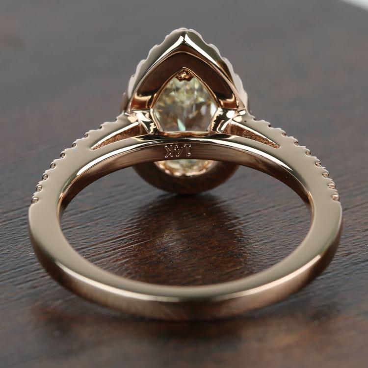 Floating 1.51 Pear Halo Diamond Engagement Ring angle 4