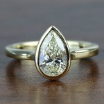 Floating Bezel 1.71 Carat Pear Diamond in Solitaire Engagement Ring - small