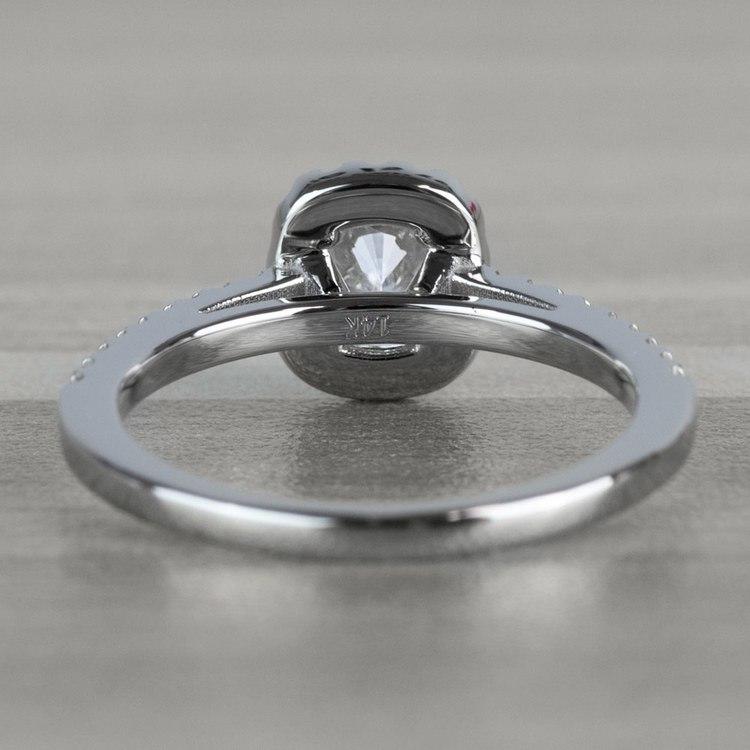 Floating Halo Cushion Cut Diamond Engagement Ring angle 4