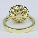 Fancy Yellow Cushion Diamond Engagement Ring with Floral Halo (2.50 Carat) - small angle 4