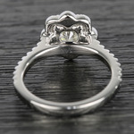 Floral Beaded Halo Diamond Engagement Ring (0.90 ct.) - small angle 4