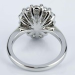 Floral Halo Engagement Ring with Pear Cut Diamond (2.38 ct.) - small angle 4