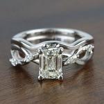 Florida Ivy 1.20 Carat Emerald Diamond Engagement Ring - small