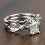Florida Ivy 1.20 Carat Emerald Diamond Engagement Ring - small angle 3