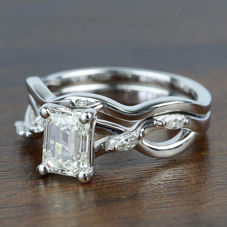 Florida Ivy 1.20 Carat Emerald Diamond Engagement Ring angle 2