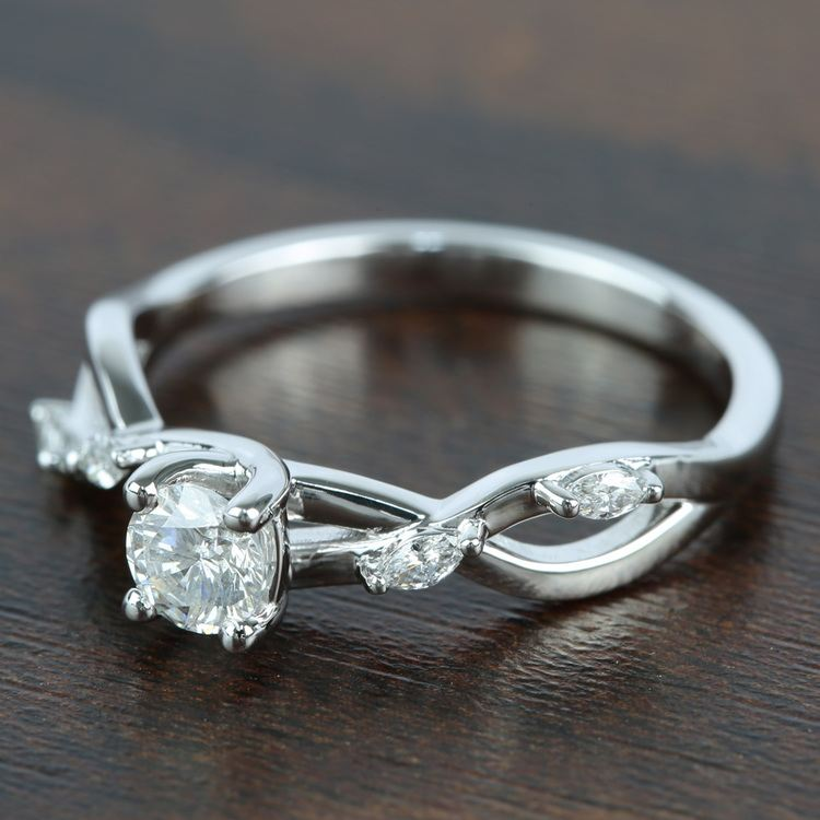 Florida Ivy Diamond Engagement Ring (0.45 ct.) angle 2