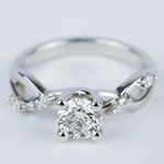 Florida Ivy Round Diamond Engagement Ring (0.80 ct.) - small