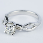 Florida Ivy Round Diamond Engagement Ring (0.80 ct.) - small angle 2