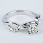 Florida Ivy Round Diamond Engagement Ring (0.80 ct.) - small angle 3