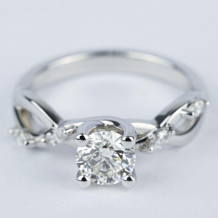 Florida Ivy Round Diamond Engagement Ring 0 80 Ct