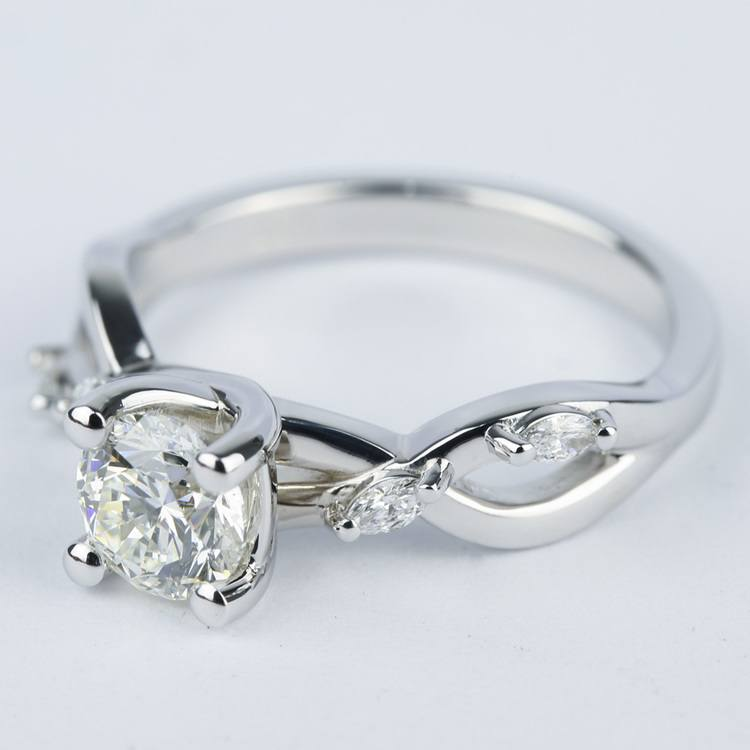 Florida Ivy Round Diamond Engagement Ring (0.80 ct.) angle 2